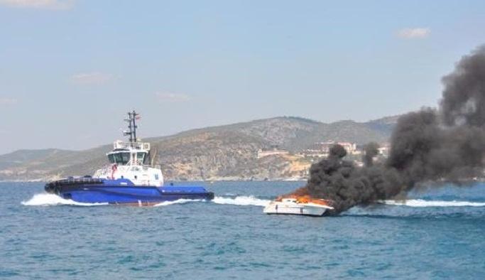 Ereğli'de tekne yangını