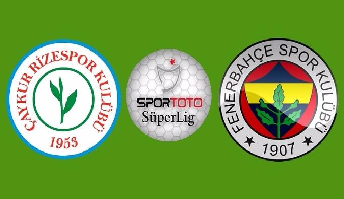 Fenerbahçe, Çaykur Rizespor deplasmanında