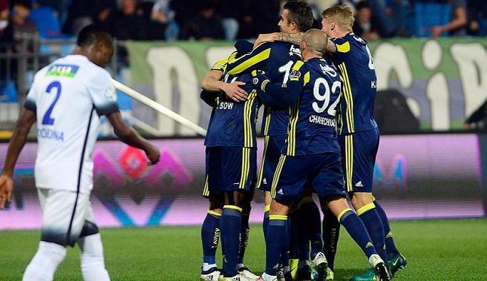 Fenerbahçe Rize'de gol oldu yağdı