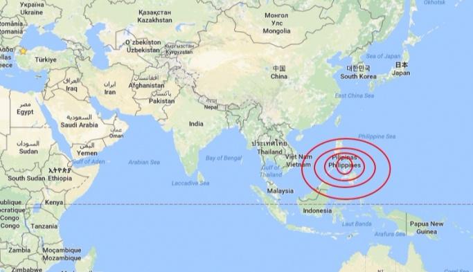 Günün dördüncü deprem haberi Filipinler'den