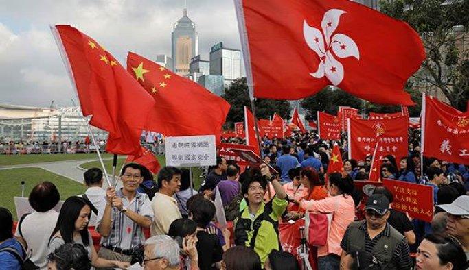 Hong Kong'da bağımsızlık karşıtı gösteriye 30 bin kişi atandı