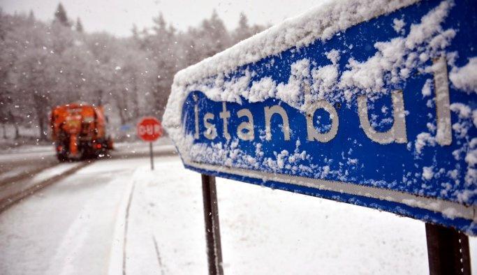 İstanbul'a beklenen kar yağışı başladı