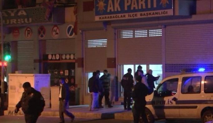 İzmir'de AK Parti binasına saldırı
