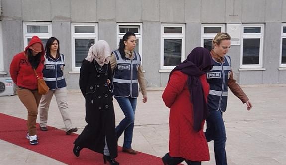 Kayseri'de 13 kadın adliyeye sevkedildi