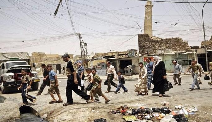 Musul'da siviller yerlerinden ediliyor