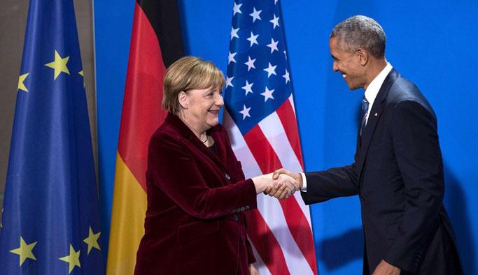 Obama'dan Merkel'e veda ziyareti