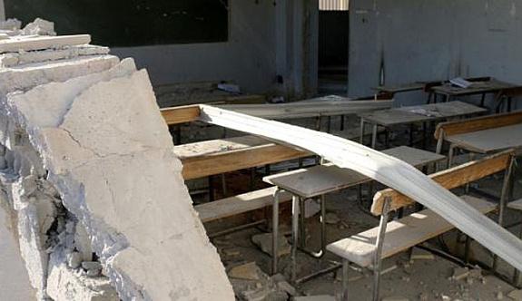 Savaş uçakları Şam'da okul vurdu