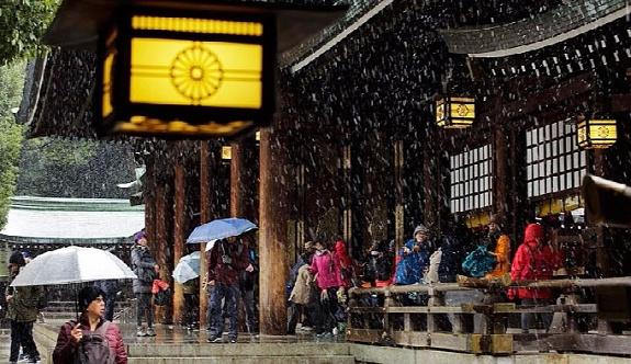 Tokyo'ya 54 yıl aradan sonra kasımda kar yağdı