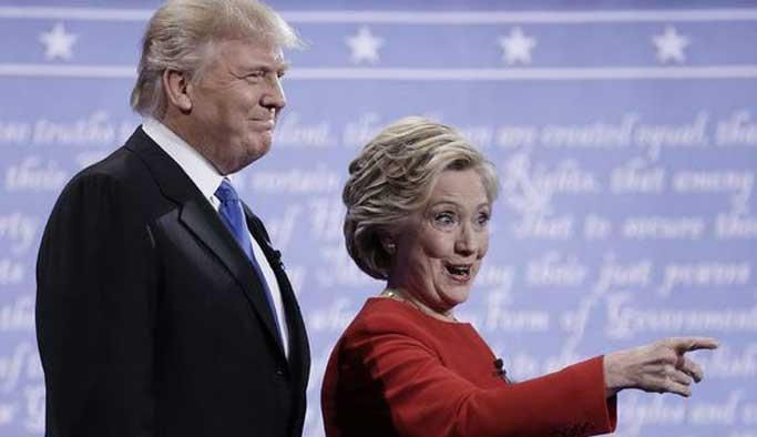 Turmp Clinton'dan önde ilerliyor