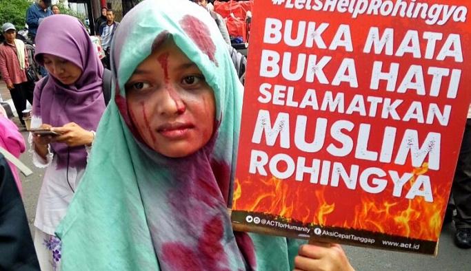 Üç ülkede Müslümanlar, Arakanlılar için sokağa döküldü