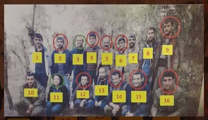 10'u yönetici 16 PKK'lı öldürüldü