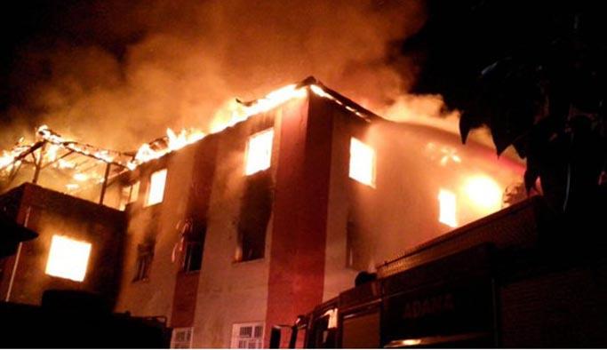Adana'daki yurt yangınında itfaiye yetersizliği