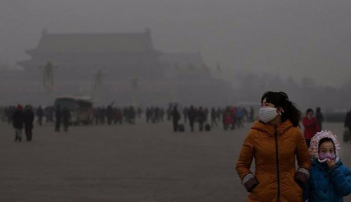 Çin'de hava kirliliği seviyesi turuncu alarm