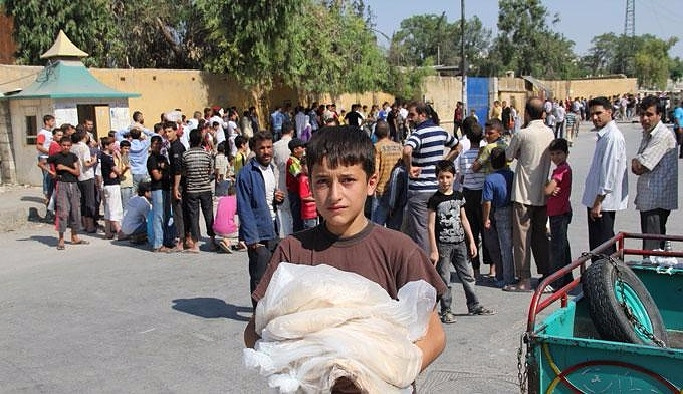 Halep günlerdir ekmeksiz