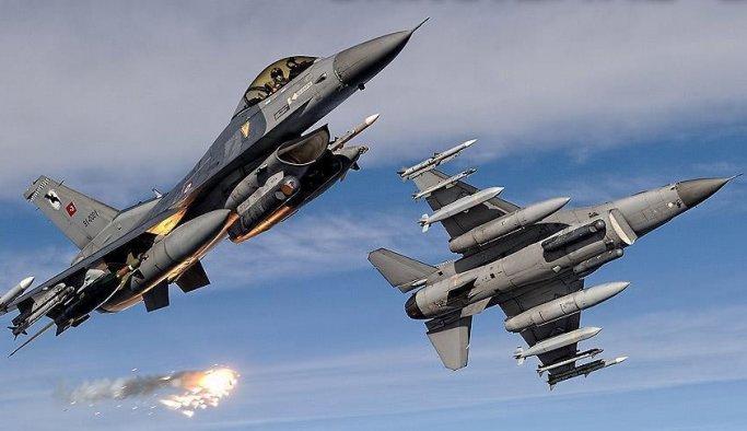 Hani kırsalındaki teröristler uçaklarla vuruldu