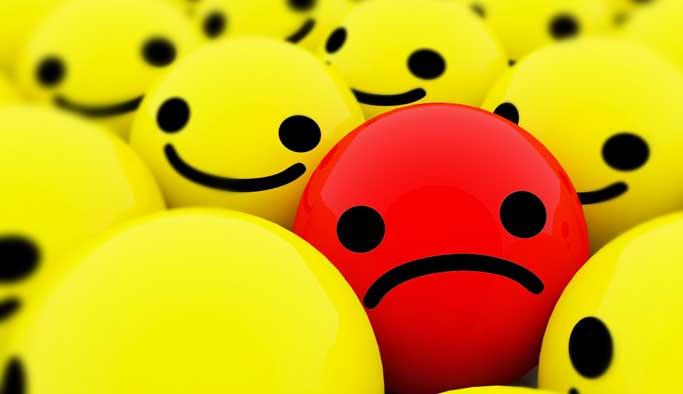 Her üzgün yüz, depresyon belirtisi değildir