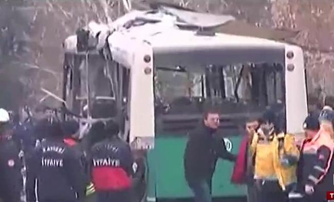 Kayseri'de bombalı araçla saldırı