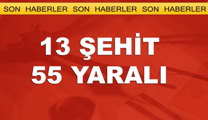 Kayseri'de şehit ve yaralı sayısı açıklandı