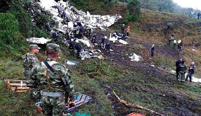 Kolombiya'da düşen uçakla ilgili şoke eden gerçek