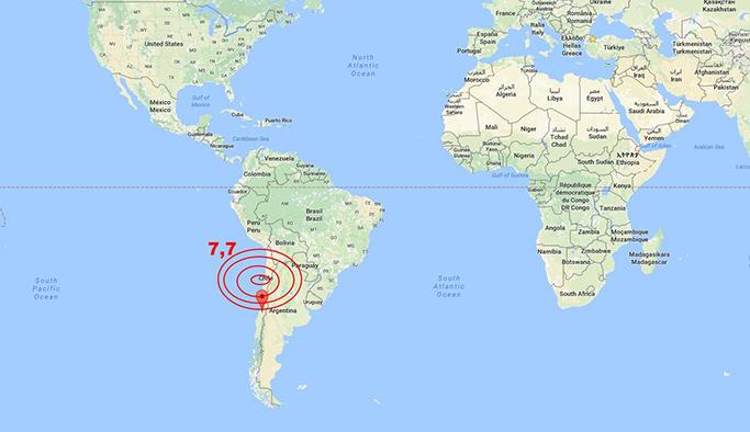 Şili 7,7 büyüklüğünde depremle sarsıldı