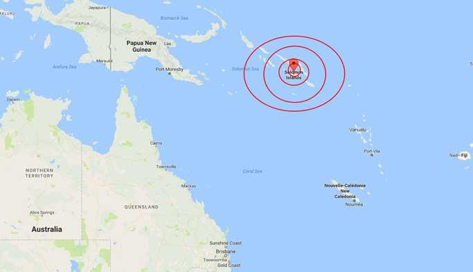 Solomon Adaları'nda 8.0 büyüklüğünde deprem
