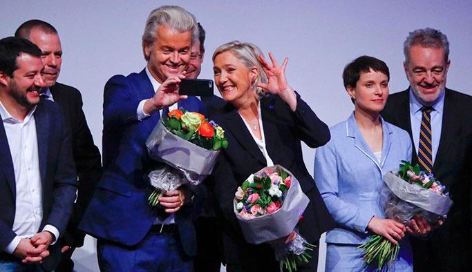 Avrupa'nın ırkçı liderleri Almanya'da buluştu