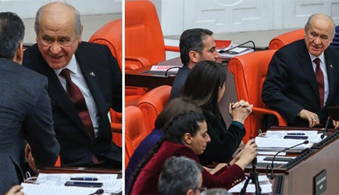 Bahçeli, HDP'li vekillerle sohbet etti