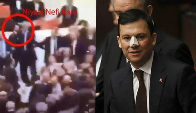 CHP'li vekil sinsice yumruk attıktan sonra kaçıyor VIDEO
