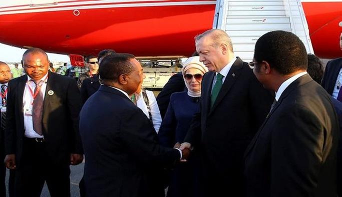 Erdoğan Tanzanya'da Türk iş adamlarıyla buluştu