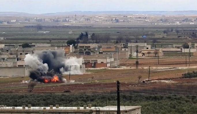 El Bab'ta ÖSO alanına bombalı saldırı