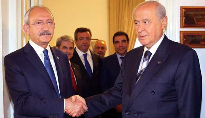 Gözler Kılıçdaroğlu-Bahçeli görüşmesinde