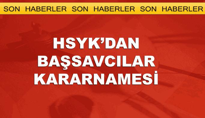HSYK'dan 'başsavcılar' kararnamesi