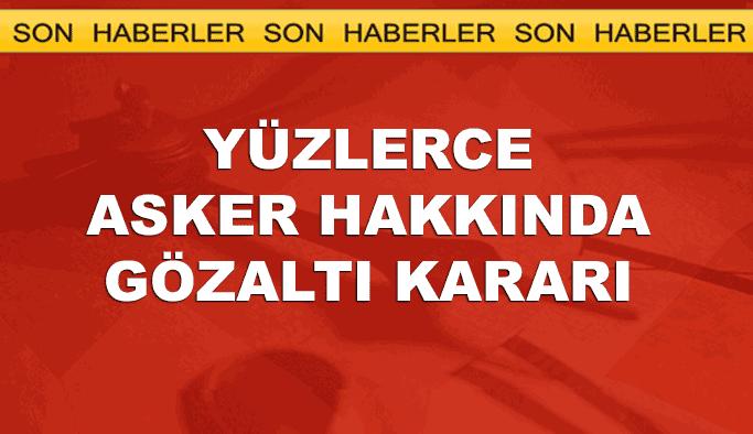 İstanbul ve Ankara'da yüzlerce TSK personeline operasyon