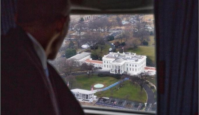 Obama, Beyaz Saray'a böyle veda etti