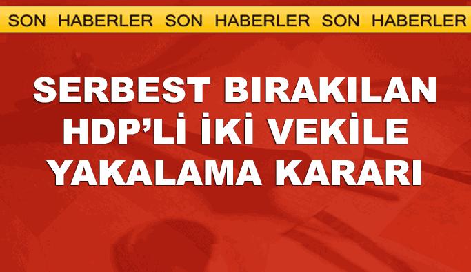 Serbest bırakılan HDP'li iki vekil hakkında yakalama kararı
