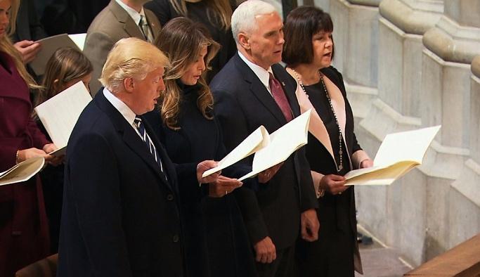 Trump için üçüncü tören ise kilisede
