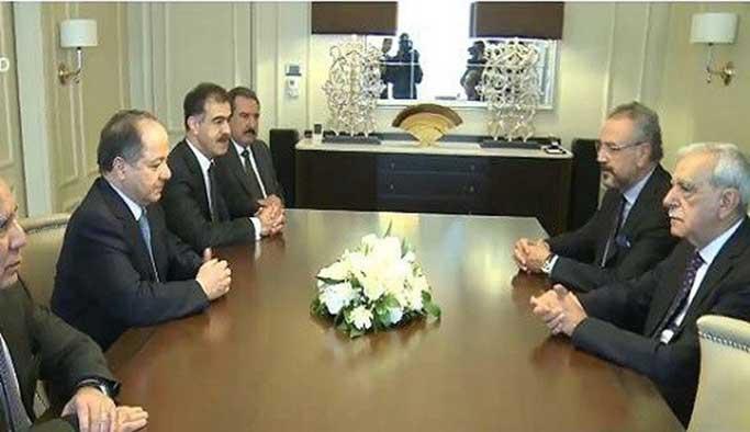 Barzani, Ankara'da Ahmet Türk ile görüştü