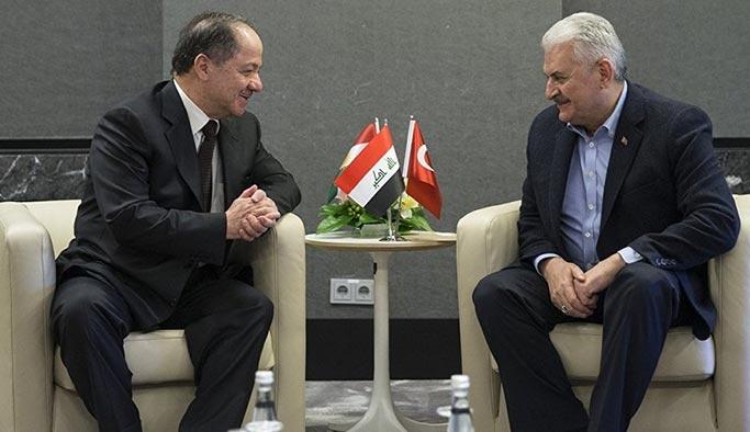 Başbakan Yıldırım, Mesut Barzani ile görüştü