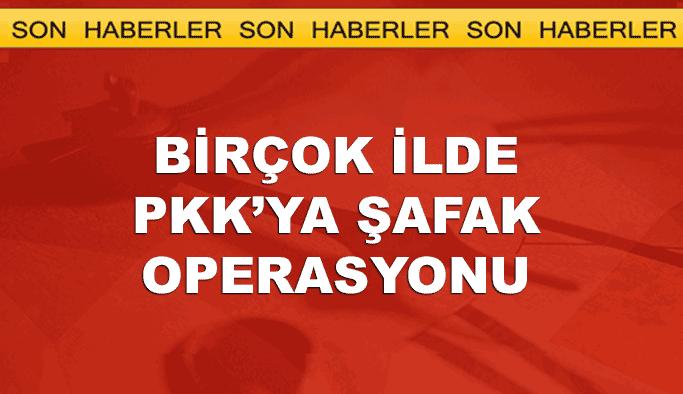 Birçok ilde PKK'ya şafak operasyonu