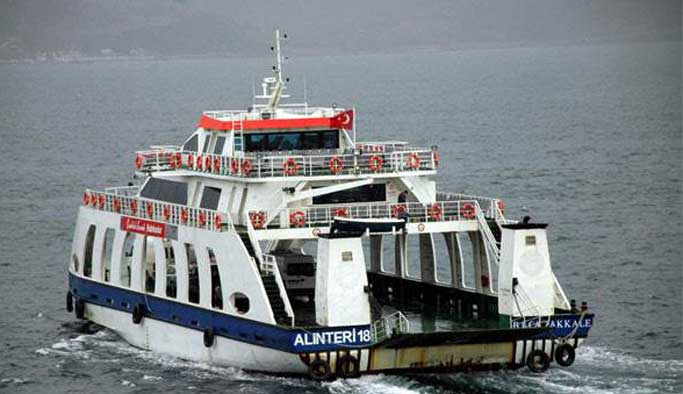 Çanakkale boğazında feribot seferleri iptal