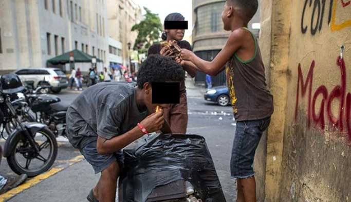 Elmas ve petrol zengini ülkede 3 milyon kişi çöpten besleniyor