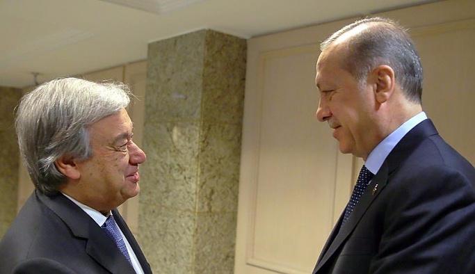 Erdoğan ile Guterres 'terörle mücadele'yi görüştü