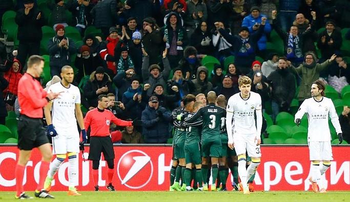 Fenerbahçe, Krasnodar'a 1-0 yenildi