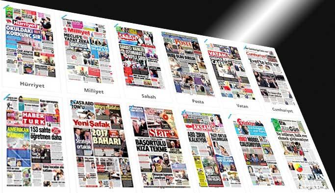 Gazetelerin bugünkü manşetleri - 15 Şubat 2017