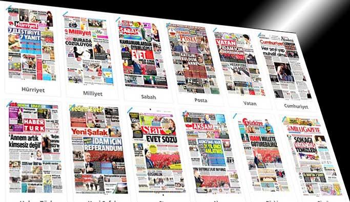 Gazetelerin bugünkü manşetleri - 25 Şubat 2017