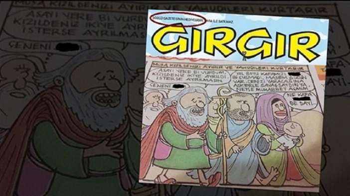 Peygambere küfreden dergiye patron kilidi