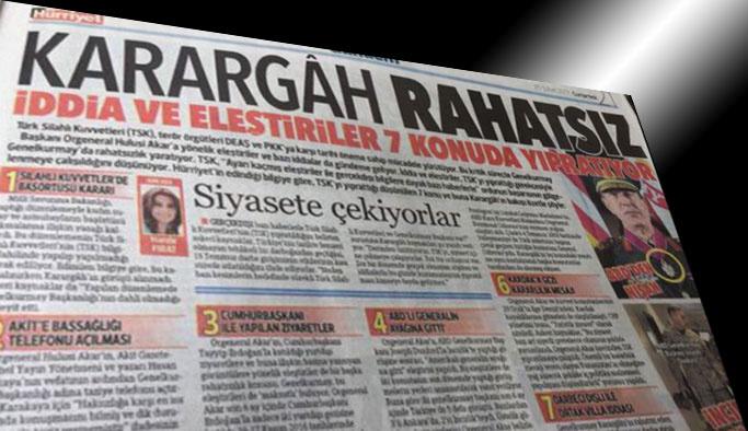 Hürriyet'te 'karargah rahatsız' başlığını atan yönetim gidiyor