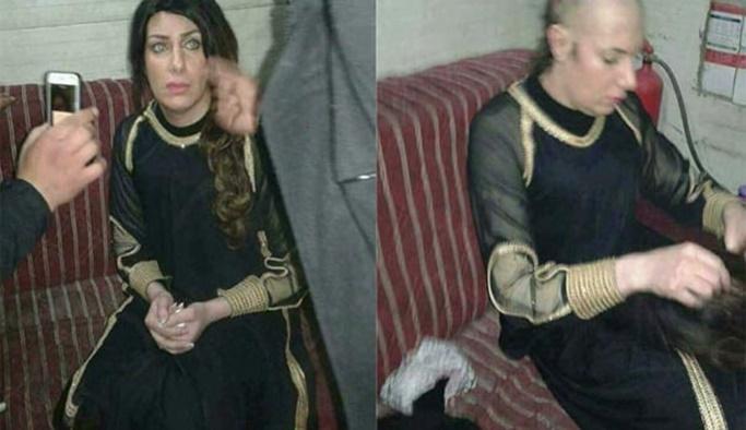 Kadın kılığında yakalanan terörist şoke etti