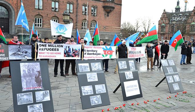 Kopenhag'da Hocalı katliamı protestosu