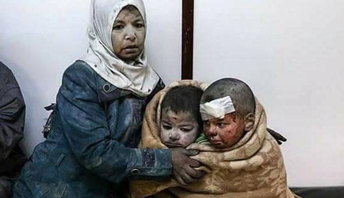 Şam'dan kahreden görüntüler